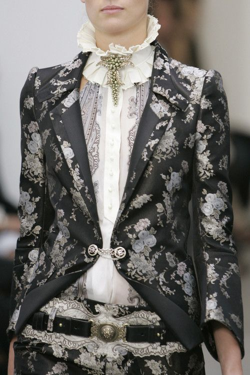 Balenciaga spring 2006 : So old and yet so new, so much texture and pattern,so m ay layers and so rich. And so ... beauty. Just so! And just sewing.