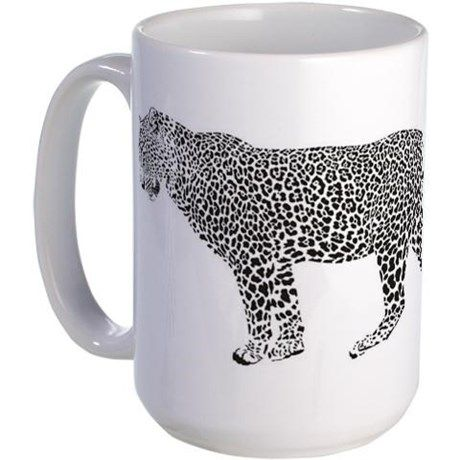 Leopard illustration Large Mug
