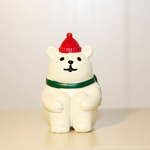 concombre まったりマスコット 体育座り 白くま【色(タイプ):c-mascot-sitdown】