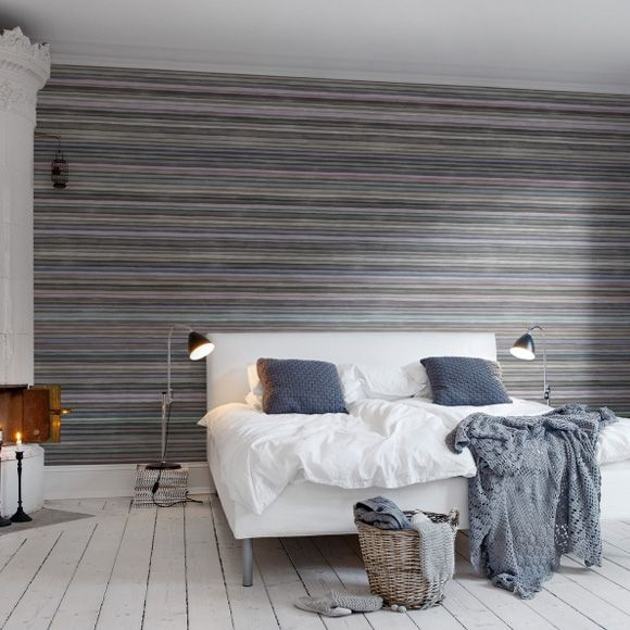 17 best images about strepen stripes behang wallpaper on pinterest shops yellow and grey - Trendy slaapkamer ...