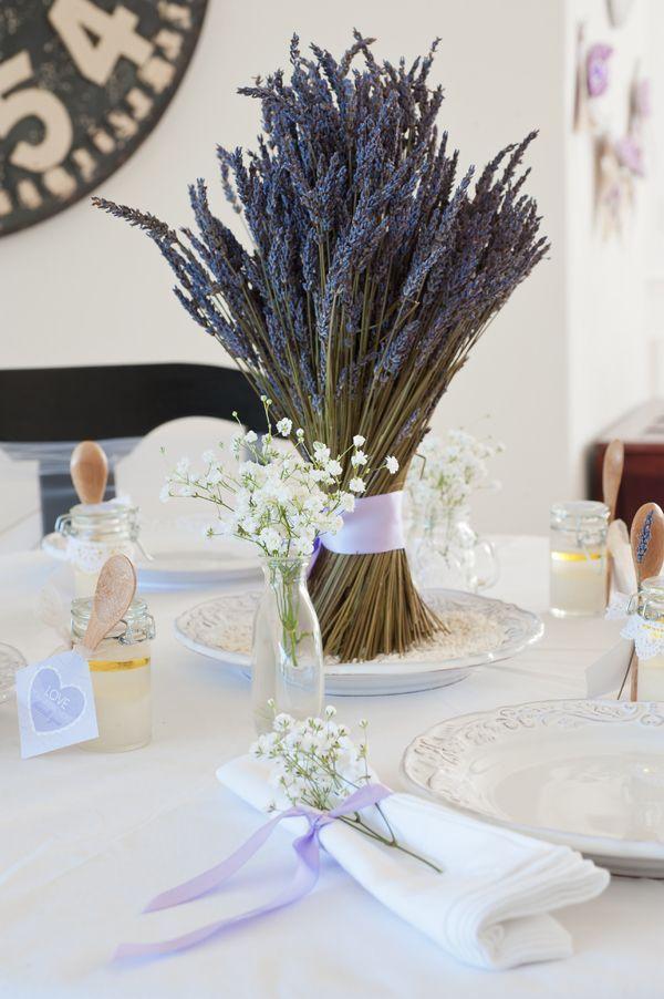 tischdeko herbst selber machen-lavendel