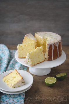 Chiffon cake au citron vert