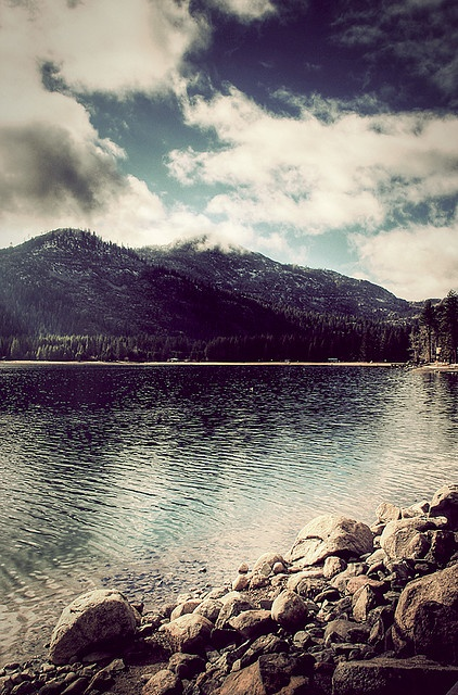 Donner Lake. I remember jet skiing, fishing and making smores with my family here :)