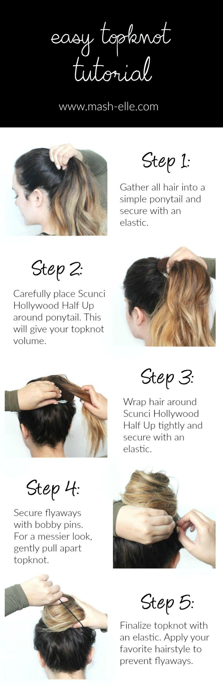 Cute, Easy Fall Topknot Hair Tutorial
