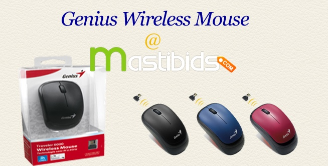#Online #Bidding – #Bid To #Win Genius Wireless Mouse at Mastibids    Mastibids.com is top online bidding and auctions site in India. To win new gadgets through online bidding for low price, be a part of this online auctions to win latest electronics.    To get know more, http://mastibids.com/blog/?p=1021