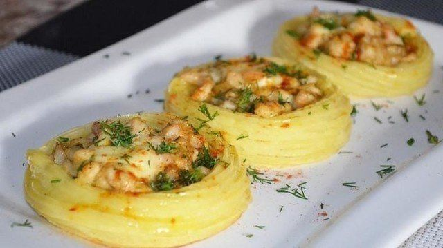 Картофельное гнездо - праздничный вариант картофельного пюре!