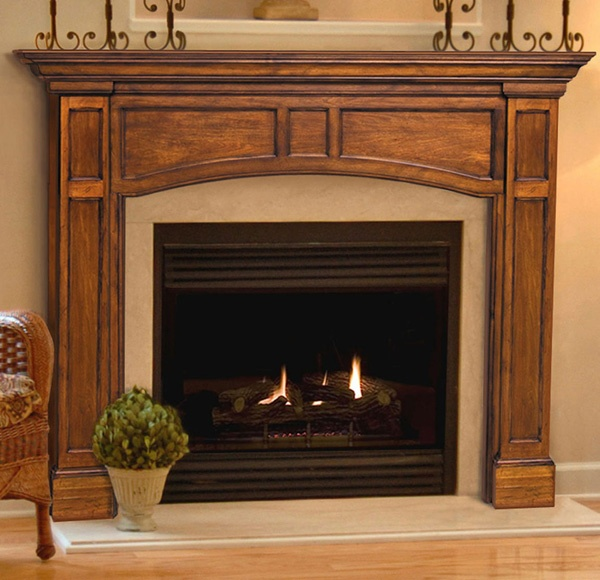 1000 images about wood fireplace mantels on pinterest for Fireplace no mantle