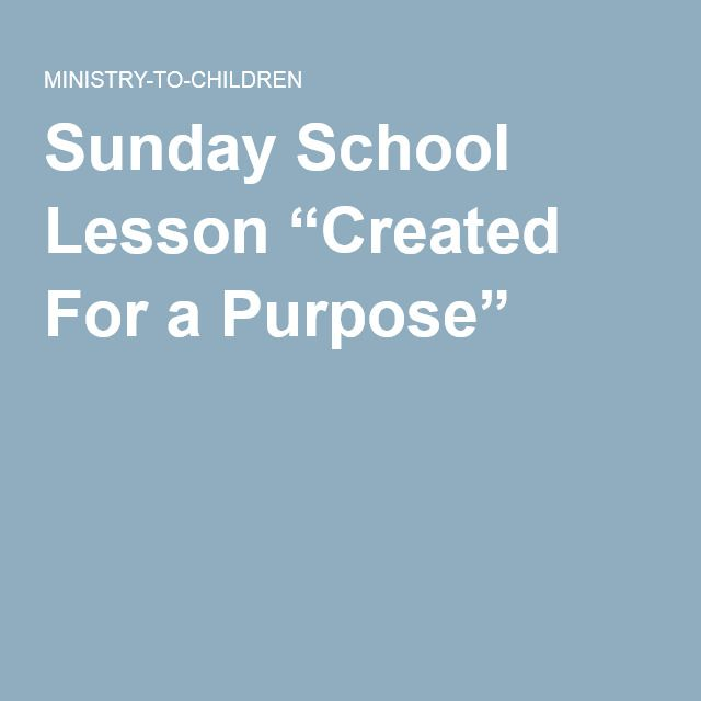 What is the Purpose of a Sunday School?