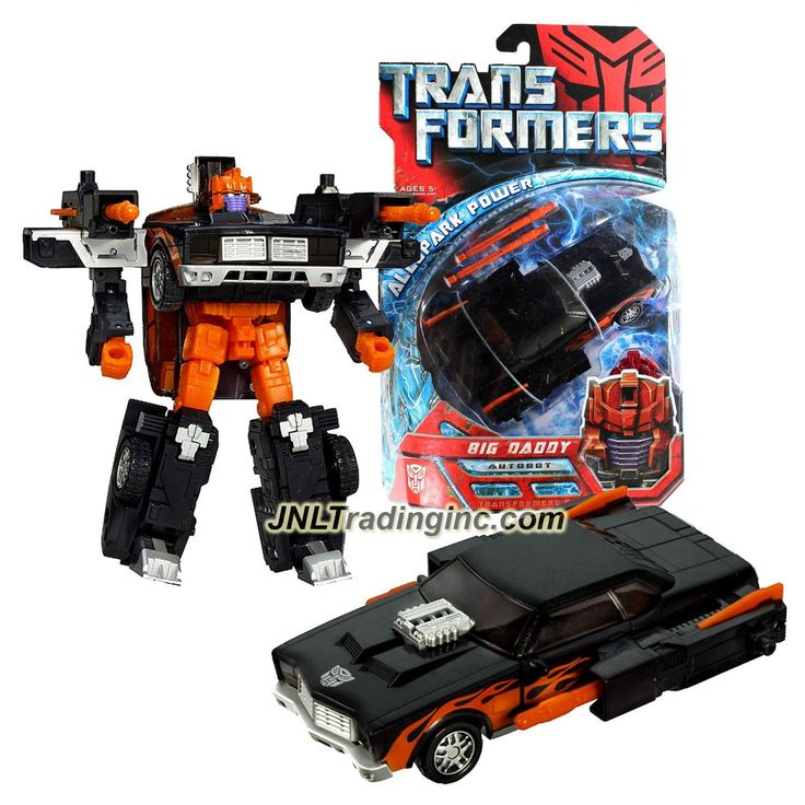 "Hasbro Transformers 1st Movie All Spark Power Series Deluxe Class 6"" Tall Figure - BIG DADDY with Twin Blasters & Activator Key (Vehicle: Muscle Car)"