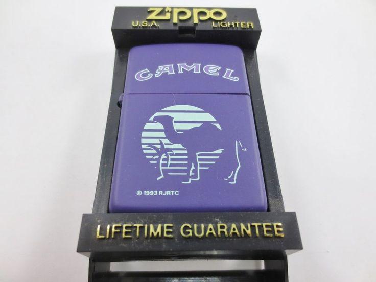 ZIPPO USA CAMEL Cigarette Lighter New Old Stock w Case 1993 RJRTC PURPLE