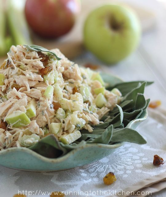 Perfect for packed lunches! Honey Chicken Salad with Apples & Sage