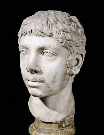 Elagabalus , also known as Heliogabalus  Latin: Marcus Aurelius Antoninus Augustus; c. 203 – March 11, 222), was Roman emperor from 218 to 222. A member of the Severan dynasty, he was Syrian, the second son of Julia Soaemias and Sextus Varius Marcellus. In his early youth he served as a priest of the god Elagabal in the hometown of his mother's family, Emesa. As a private citizen, he was probably named Sextus Varius Avitus Bassianus. He was called Elagabalus only after his death.