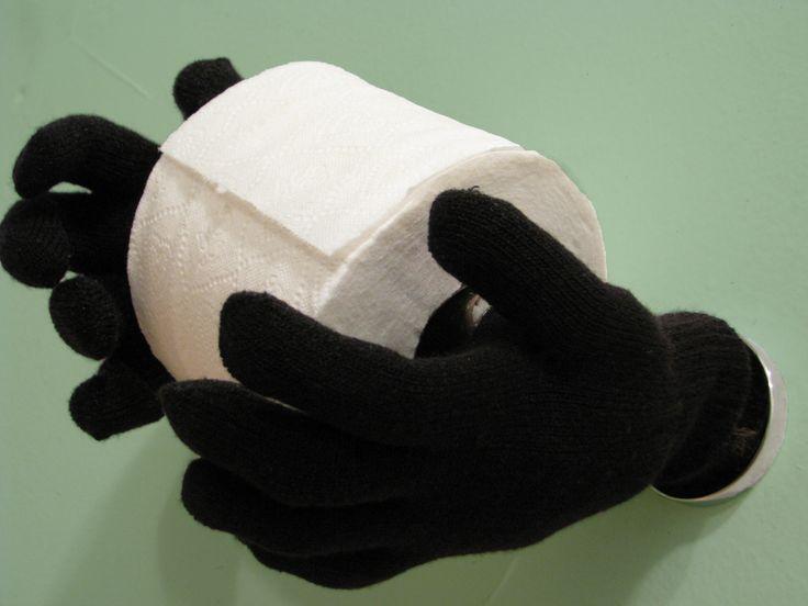 magic hands toilet paper holder