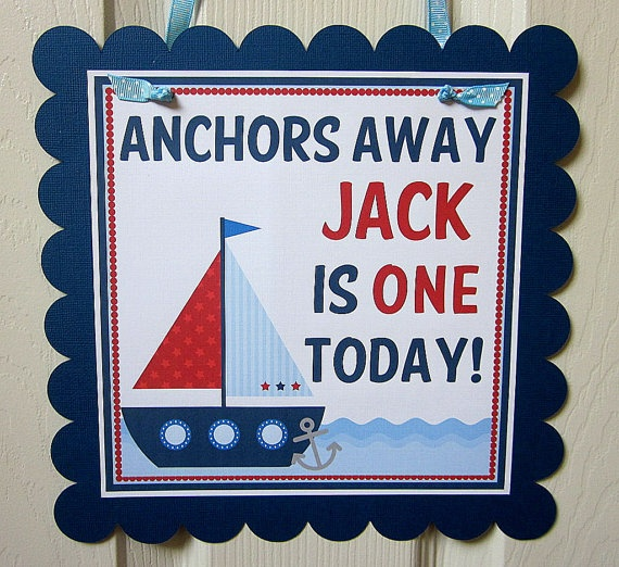 NEW  Anchor's Away  Happy Birthday Banner by ciaobambino on Etsy, $15.00