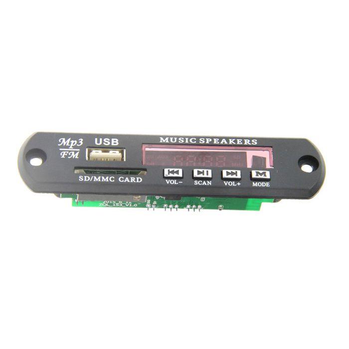 Bluetooth MP3 Decoding Board Module w/ SD Card Slot / USB 2.0 Port / FM / Remote - Black + White