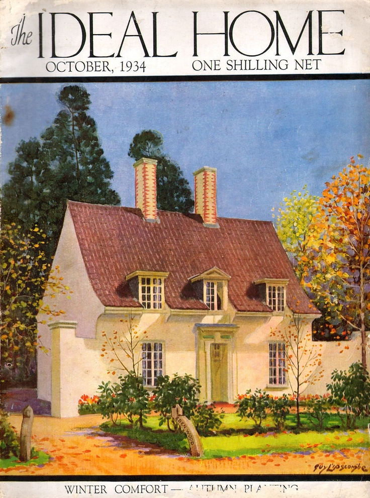 1934 october ideal home front cover vintage magazine for Front of house magazine