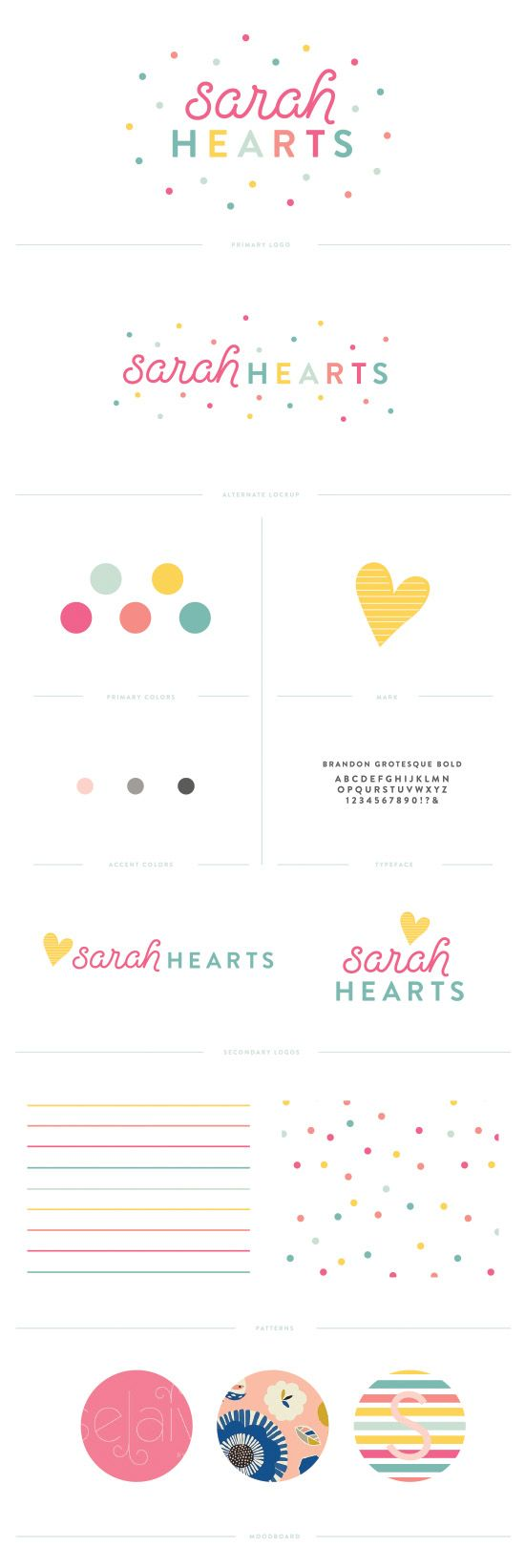 Sarah Hearts branding by Pinegate Road