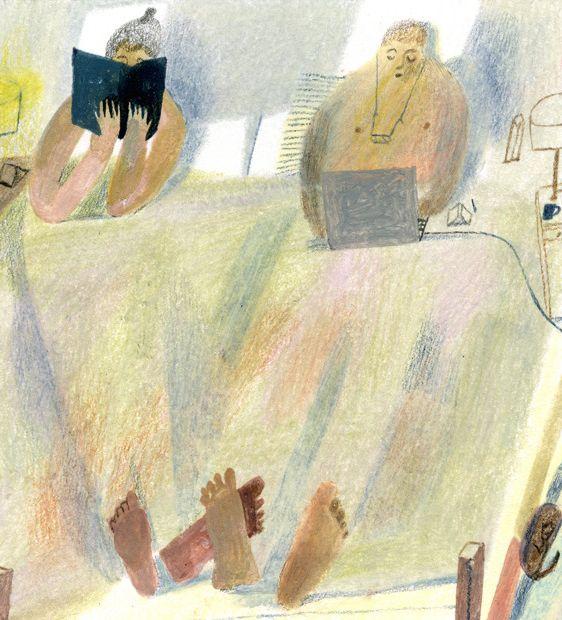 Laura Carlin - Clin d'oeil à la réalité contemporaine dans un dessin un brin naïf charmant
