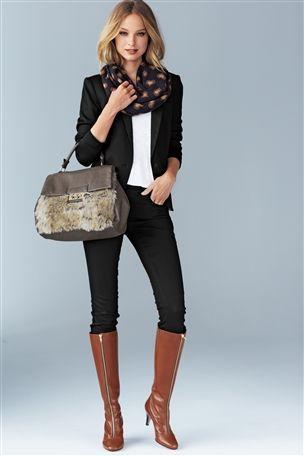 Chisel Toe Zip Long Boots