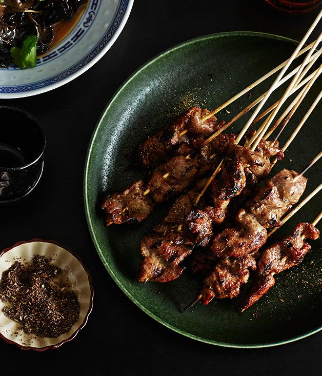 Xinjiang-style lamb skewers by Victor Liong from Melbourne restaurant Lee Ho Fook.