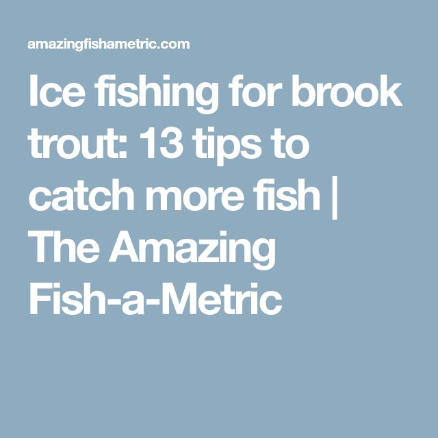 Best 25 ice fishing tips ideas on pinterest fishing for Ice fishing tips