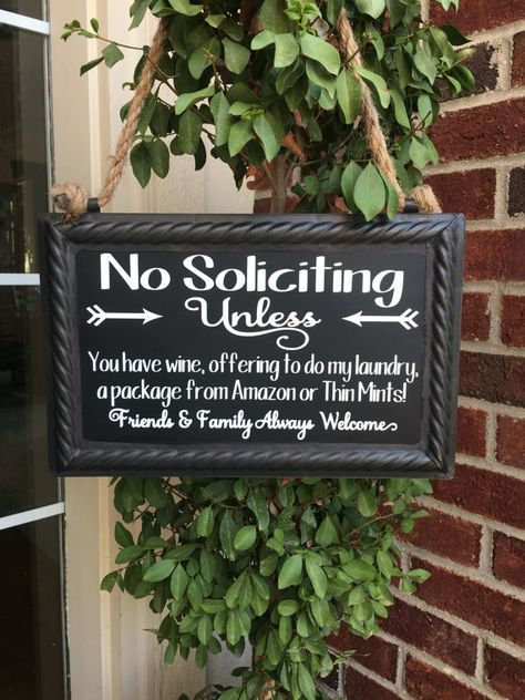 No soliciting sign / no soliciting yard sign / no by SuiteofSweets