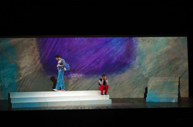 """Scena dello spettacolo """"Best Friend"""" - Scene from theatrical show """"Best Friend"""", set design by Antonio Panzuto"""