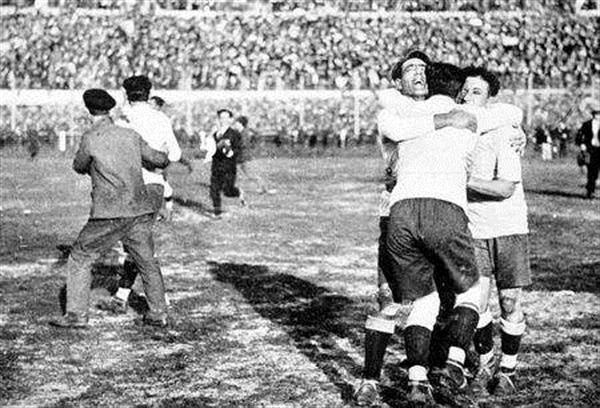 On July 13, 1930, the first-ever World Cup matches are played. (France defeats Mexico 4-1 and the United States defeats Belgium 3-0.)