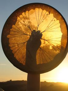 Inviting the Sun into a Native American Drum