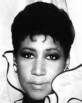 Aretha Franklin...Queen of Soul and the first female artist inducted into rock and roll hall of fame