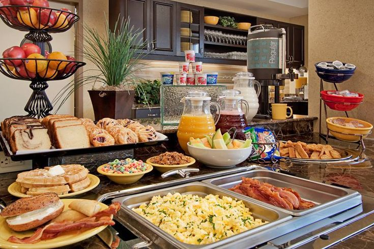 The breakfast buffet at the Hampton Inn Lawrenceville. Photo from Facebook.