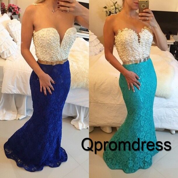 Ball gowns wedding dress, unique lace long prom dress #coniefox #2016prom