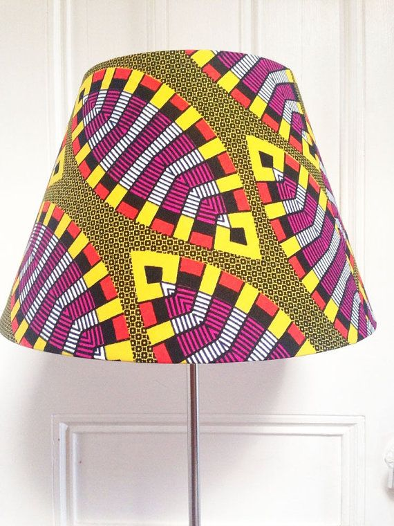 African Wax Print Lampshades