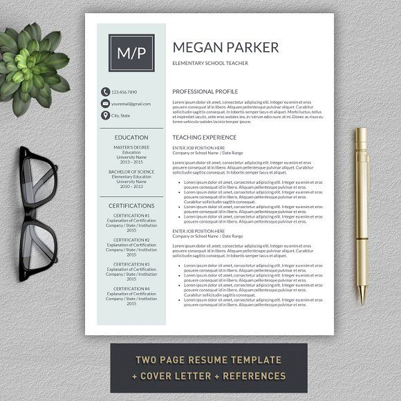 This resume template will help you get noticed! This template is also fully customizable, so you can easily modify it, you can change the fonts, colors, layout, add your own photo and even add and delete sections. The package includes a resume templates, cover letter example and a references template in an elegant, modern theme. @creativework247