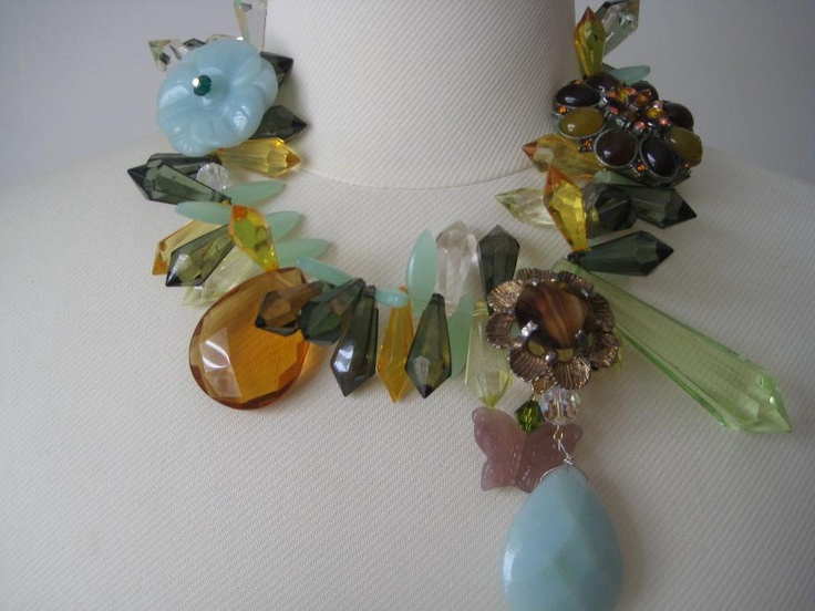 Green, limes, citrenes and amazonites. Fierce jewellery