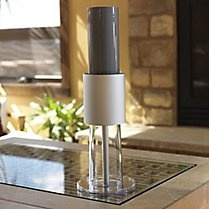 This Iron Flow Air Purifier from gaiam.com looks so sleek and clean. It only uses 10% of the energy of a lightbulb and has no filters to change, which doesn't use waste, which is great for someone (like me) who would probably forget to change a filter. $329