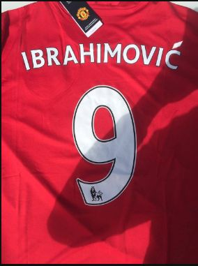 Picture of Zlatan Ibrahimovic Man United 9 shirt emerges online