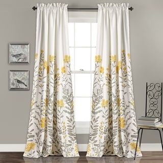 Lush Decor Aprile Room Darkening Curtain Panel Pair | Overstock.com Shopping - The Best Deals on Curtains