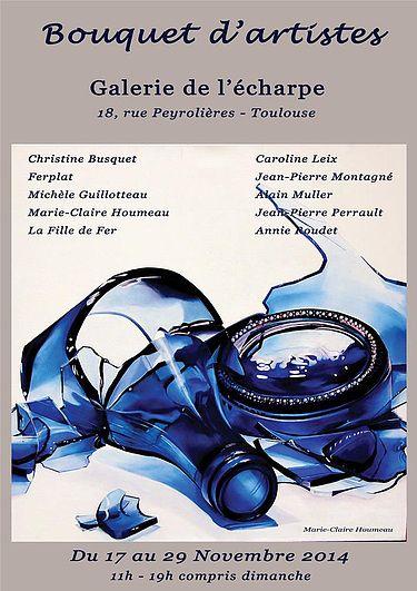 Bouquet d'artistes - Galerie de l'echarpe à Toulouse