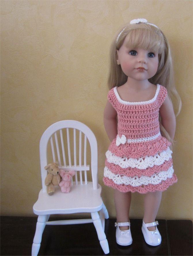 72- FICHE PATRON CROCHET Tenue Dentelle pour poupée Hannah de GOTZ : Jeux, jouets par atelier-crochet