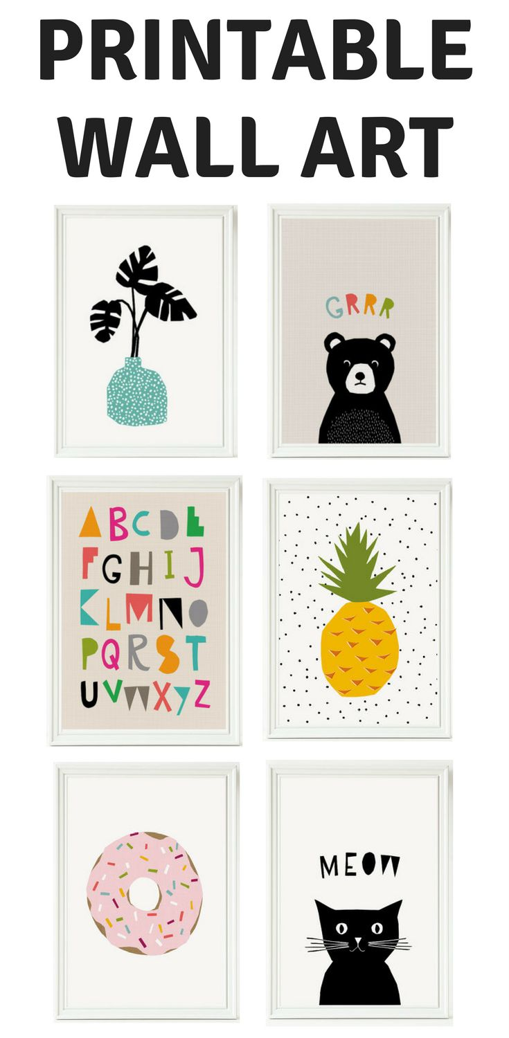 Super affordable and cute printable wall art for children's rooms and baby's nursery.