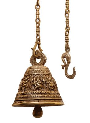 Brass Statues - Hanging Bell with Ganesha