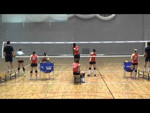 Entrenamiento de Defensa en Voleibol - YouTube