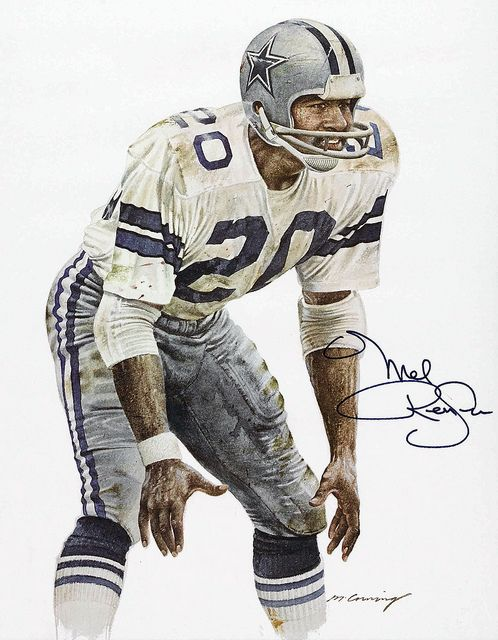 Mel Renfro of the Dallas Cowboys by Merv Corning