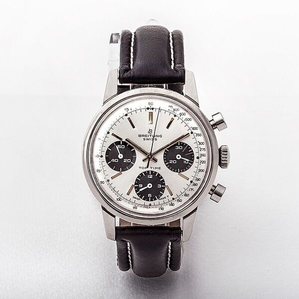 Gents 60's Breitling Toptime Chronograph on a Black Strap