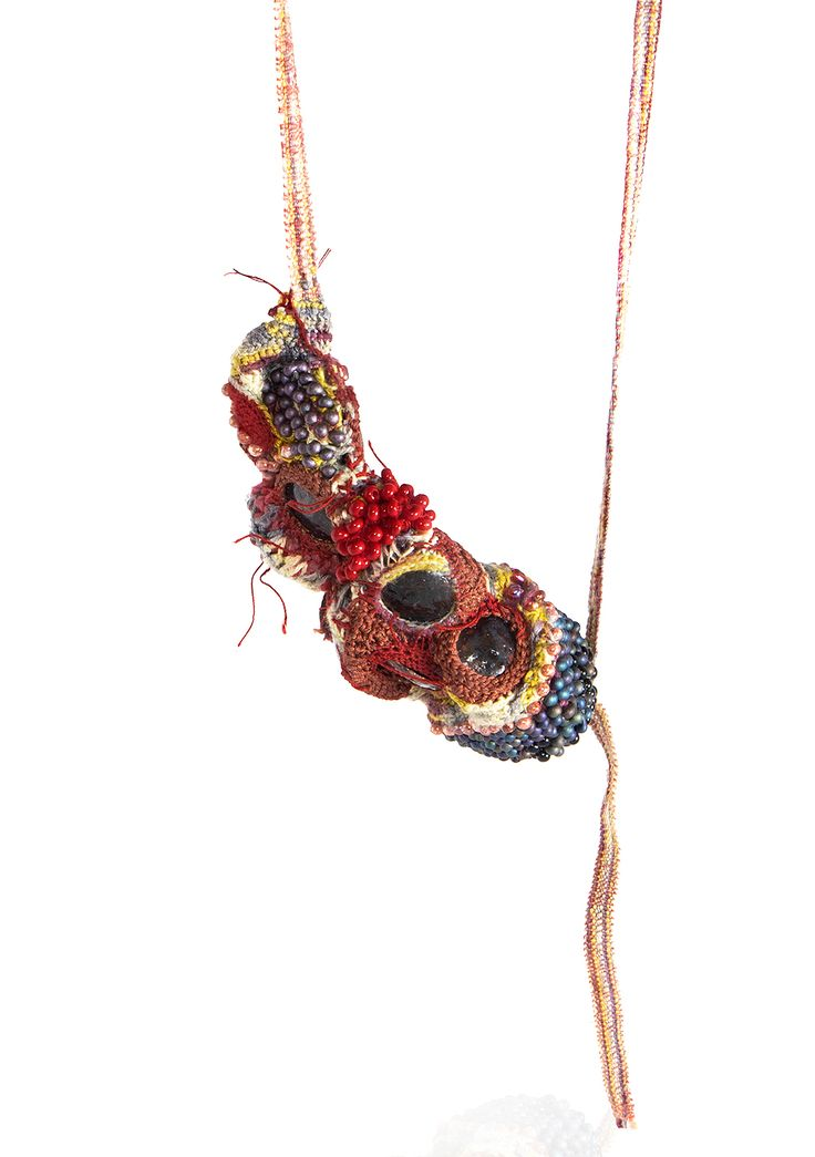 Sébastien Carré Necklace: Organic Inflammation, 2014 beads, silk, cooper, enamel, cotton, natural fiber 80 x 12 x 7 cm Photo by: Milo Lee From series: Inflammation Project
