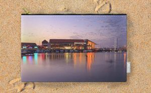 Harbour Lights, Hillarys Boat Harbour Carry-All Pouch design by Dave Catley…