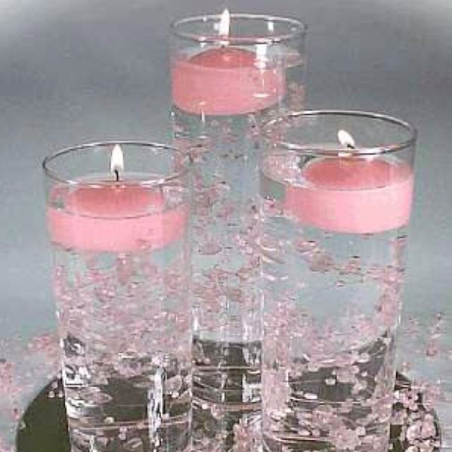 Floating Candle Wedding Centerpiece Ideas: Floating Candle Centerpieces.... What Is In The Vases