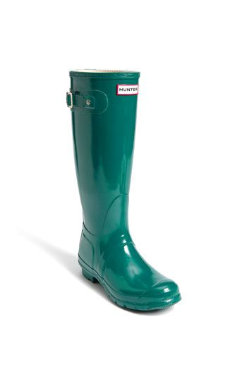 Love the color...and the boots! Hunter 'Original Tall' High Gloss Rain Boot (Women) available at #Nordstrom #nordstromsweeps