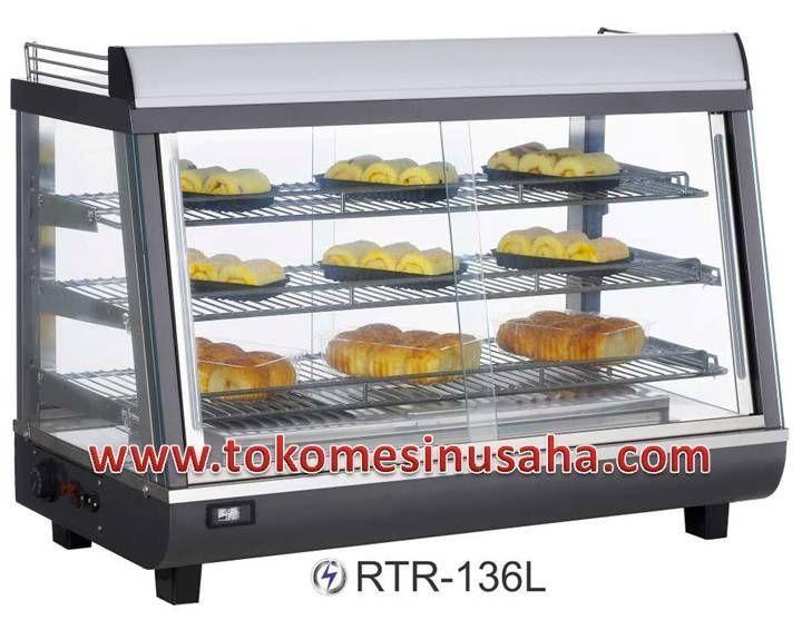 Food Warmer adalah rak yang didesign khusus untuk menghangatkan makanan siap saji, seperti pizza, bakmi, aneka lauk dan sayur.  Type : RTR-136L  Dimensi : 91,5 x 48,4 x 66,8 cm  Volume : 136 L  Power : 1500 W  Temperatur : 30 - 70° C  Berat : 41,5 Kg